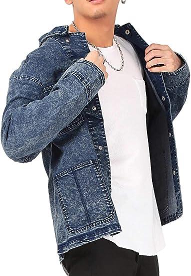 デニムジャケット メンズ Gジャン ヴィンテージ ルーズ 春 秋 LUX STYLE(ラグスタイル)