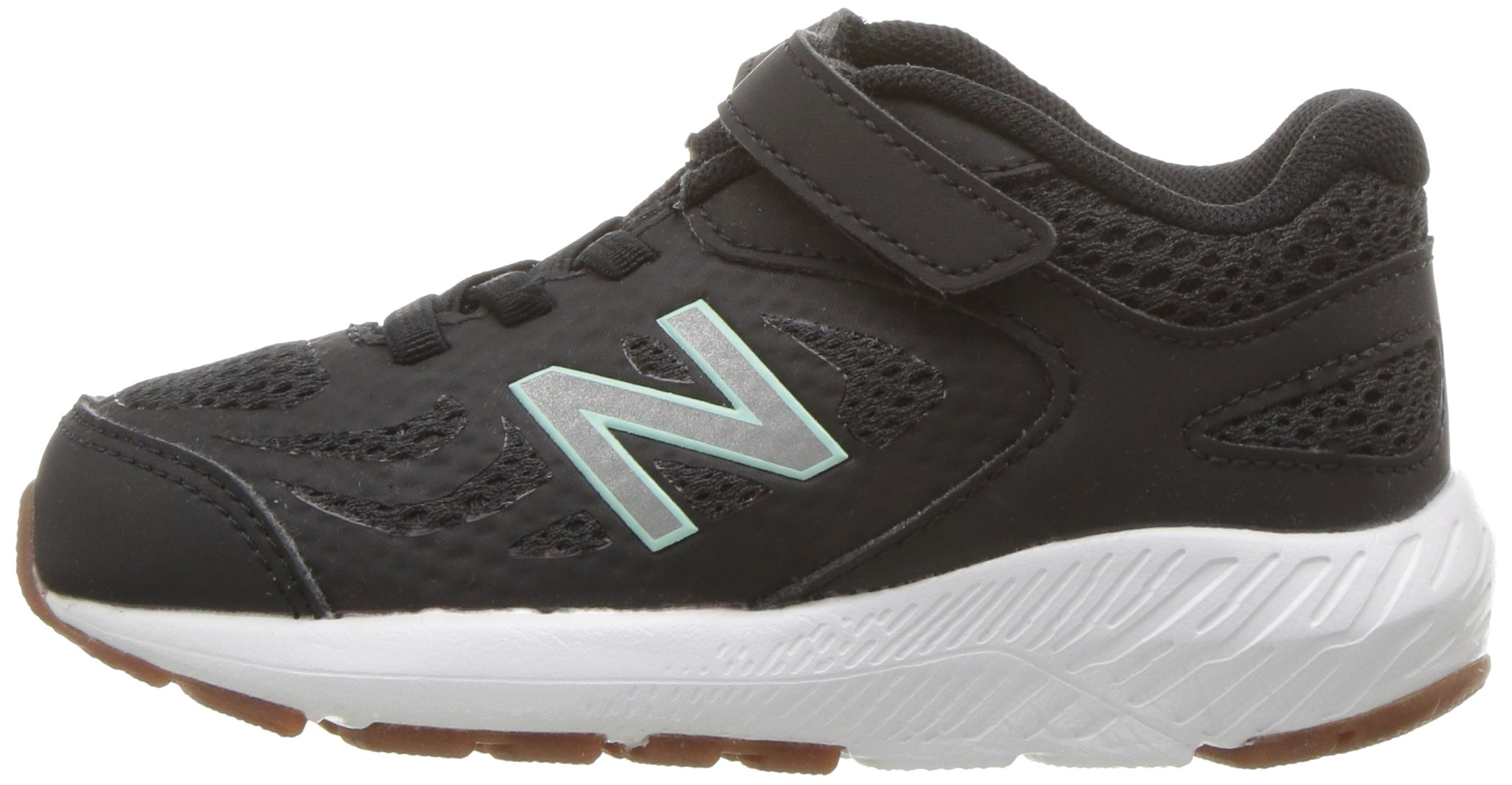 New Balance Girls' 519v1 Hook and Loop Running Shoe Black/Seafoam 2 M US Infant by New Balance (Image #5)