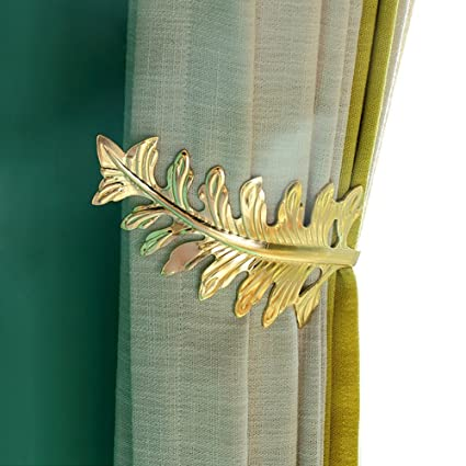 Amazon.com: Chictie European Leaf Curtain Holdbacks Decorative Wall ...