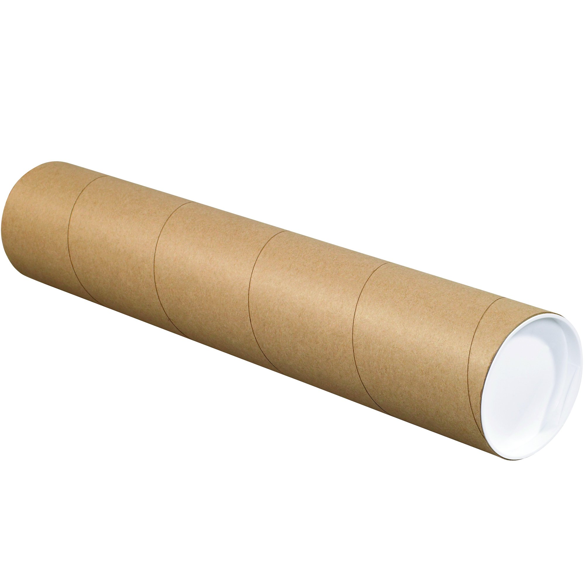 BOX USA BP4048K Mailing Tubes with Caps, 4'' x 48'', Kraft (Pack of 15) by BOX USA