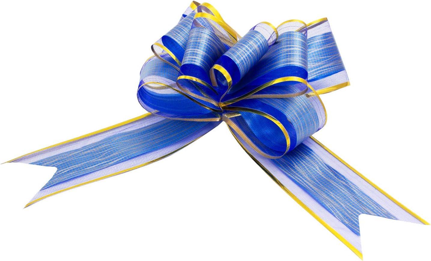 Gold w/ählbar Oblique Unique/® Geschenk Schleife mit Geschenkband Gl/änzend f/ür Geschenke T/üten Zuckert/üten zum Basteln Dekorieren Verzieren
