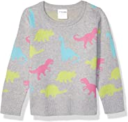 Amazon Brand - Spotted Zebra Girl's Toddler & Kid's Pullover Crew Sweaters