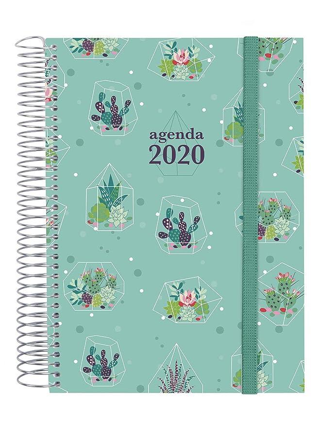 Finocam - Agenda 2020 1 día página Espiral Design Collection Cactus catalán