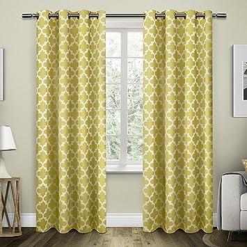 exclusive home curtains neptune cotton grommet top window curtain panel pair sundress 54x84