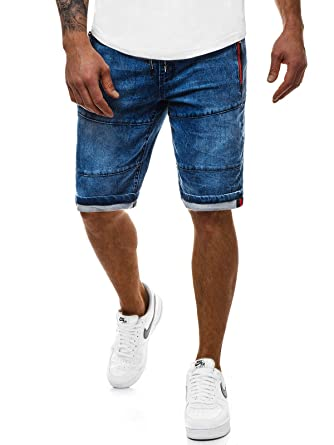 BOLF Herren Hose Kurzehose Jeans Clubwear Denim Street Style