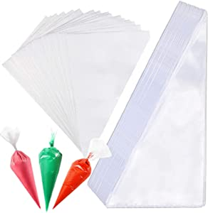 100 Pcs 12 inch Disposable Pastry Piping Bags Extra Thick, Cake Decorating Bag, Anti-Burst Cupcake Icing Bags, Dessert, Cookies Pastries, Sugar Craft Supplies for All Size Tips Couplers