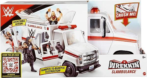 WWE Wrekkin' Slambulance action figure vehicle playset toy for kids in package