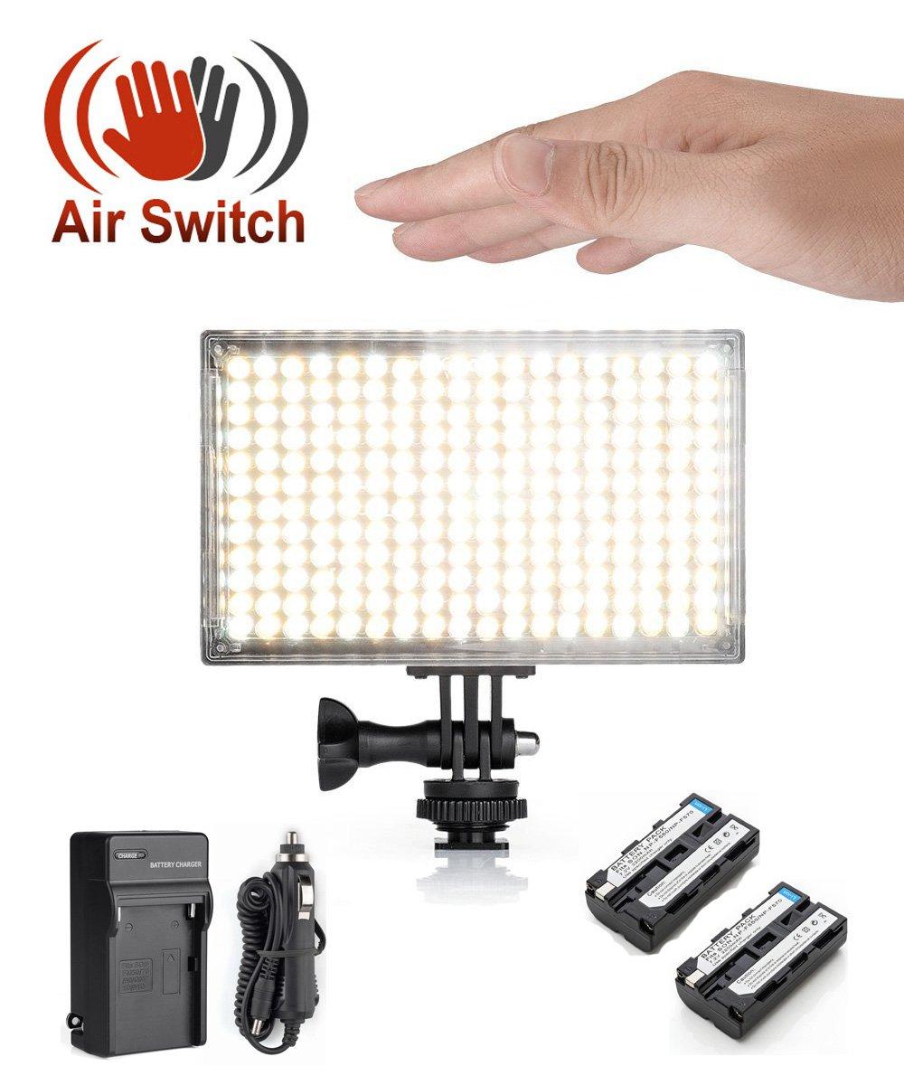 amazon com pergear a216c air switch sensor led video light panel