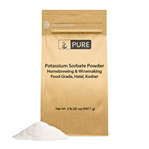 Potassium Sorbate (2 lb) by Pure Ingredients, Food and USP Pharmaceutical Grade For Use in Cooking, Brewing, & Cosmetics