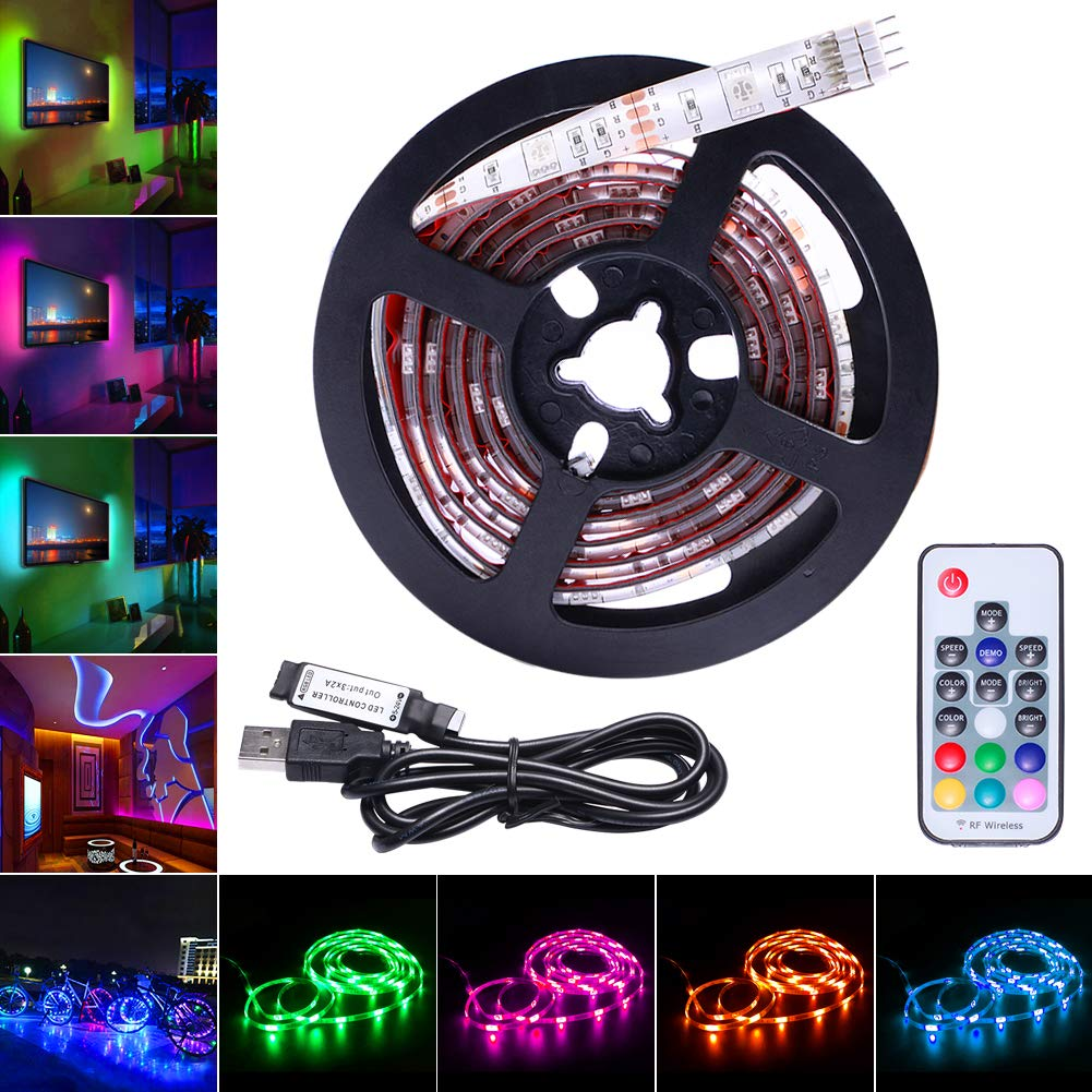 Avaway Rgb Led Strip Lights 5v Usb Powered Smd 5050 Strips Circuit With Arduino View Original Light 17 Keys Rf Remote Control For Tv Background Lighting Pc Notebook Home