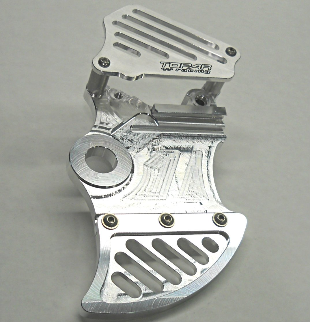 Topar Racing KRD-RFM-119-C KTM ADVENTURE REAR BRAKE ROTOR DISC GUARD KIT W/CALIPER GUARD 2009-2012 950/990 ADVENTURE Models