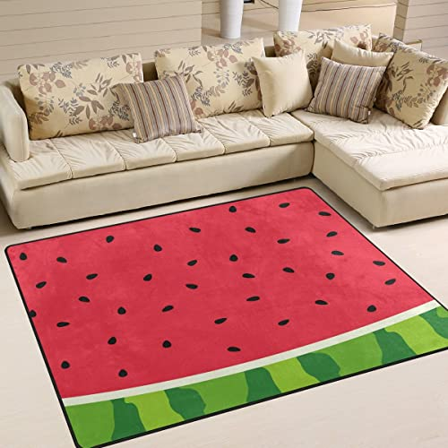 ALAZA Watermelon Fruit Red Summer Area Rug Rugs