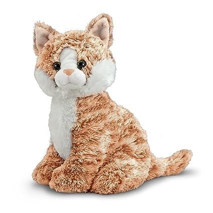 Melissa & Doug Pumpkin Tabby - Stuffed Animal Cat at amazon