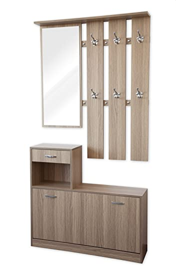 garderobe 100 cm breit haloring. Black Bedroom Furniture Sets. Home Design Ideas