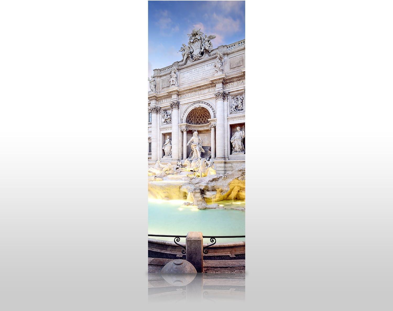 wandmotiv24 Cubierta Trasera de Ducha Fuente de Trevi, Roma 80 x ...
