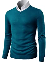 H2H Mens Casual Slim Fit Pullover Long Sleeve Basic Sweater