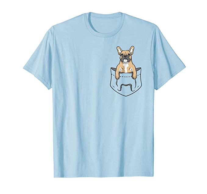 Amazoncom Cool Funny Frenchie French Bulldog Pocket Design T Shirt