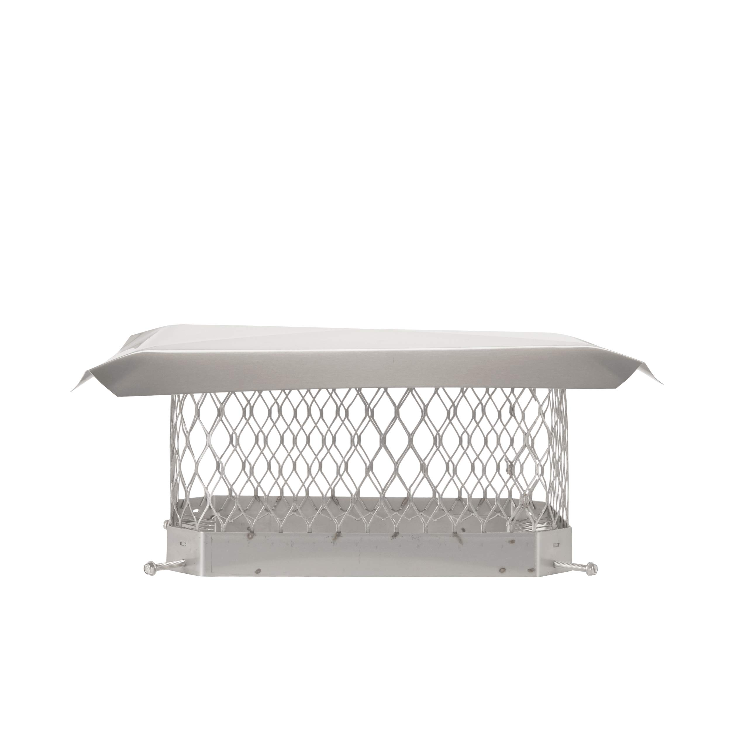 13x18 Shelter Pro SPSS1318 Stainless Steel Chimney Cap-Fits Outside Tile Dimensions