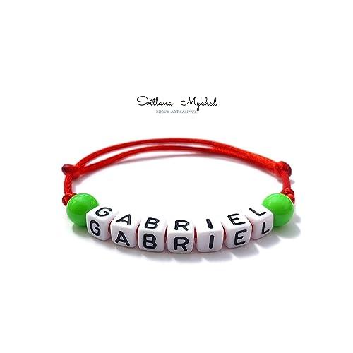 en ligne achats magasiner pour le meilleur Bracelet à personnaliser GABRIEL avec lettre de l'alphabet ...