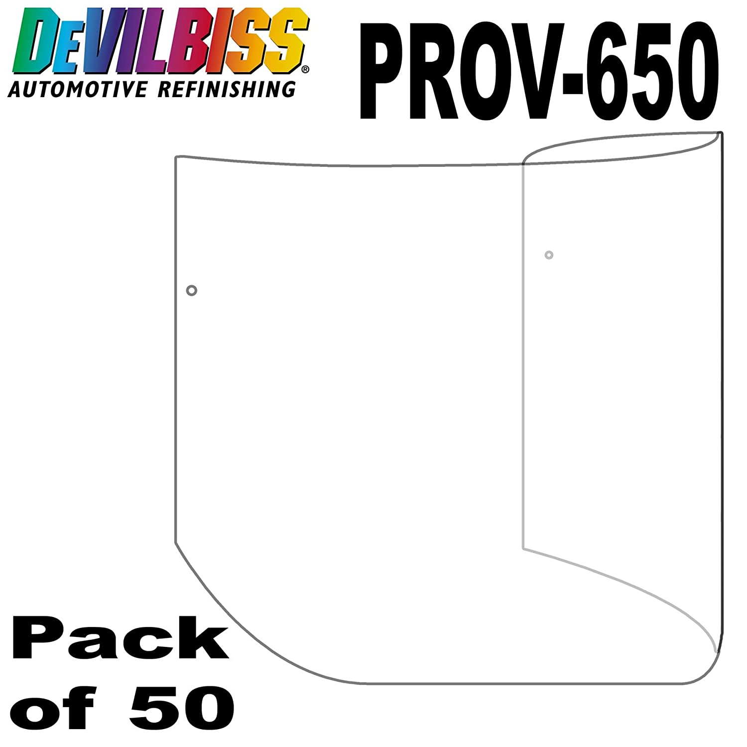 DeVilbiss 10 Pack Official Tear-Off Visor Protectors for the New 2016 DeVilbiss PROV-650 Air Fed Masks Scratch Resistant Covers