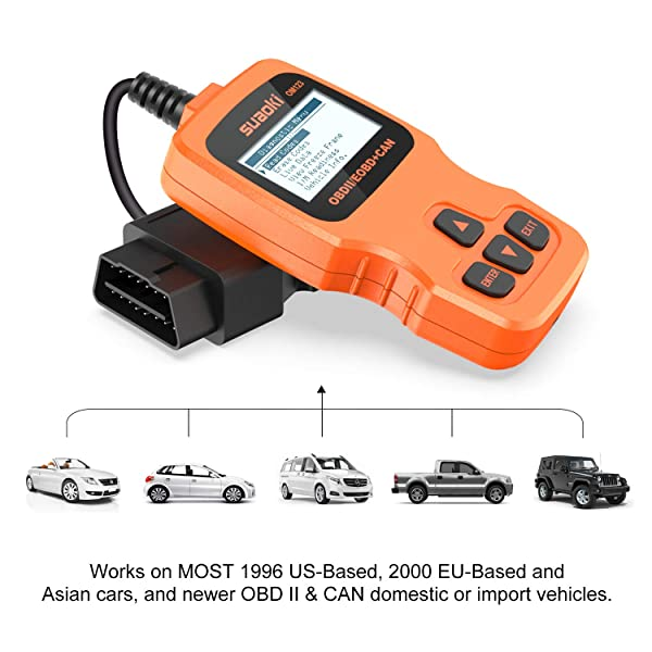 SUAOKI OM123 is an OBD II Code Reader that supports 5 of the main OBD2 protocols
