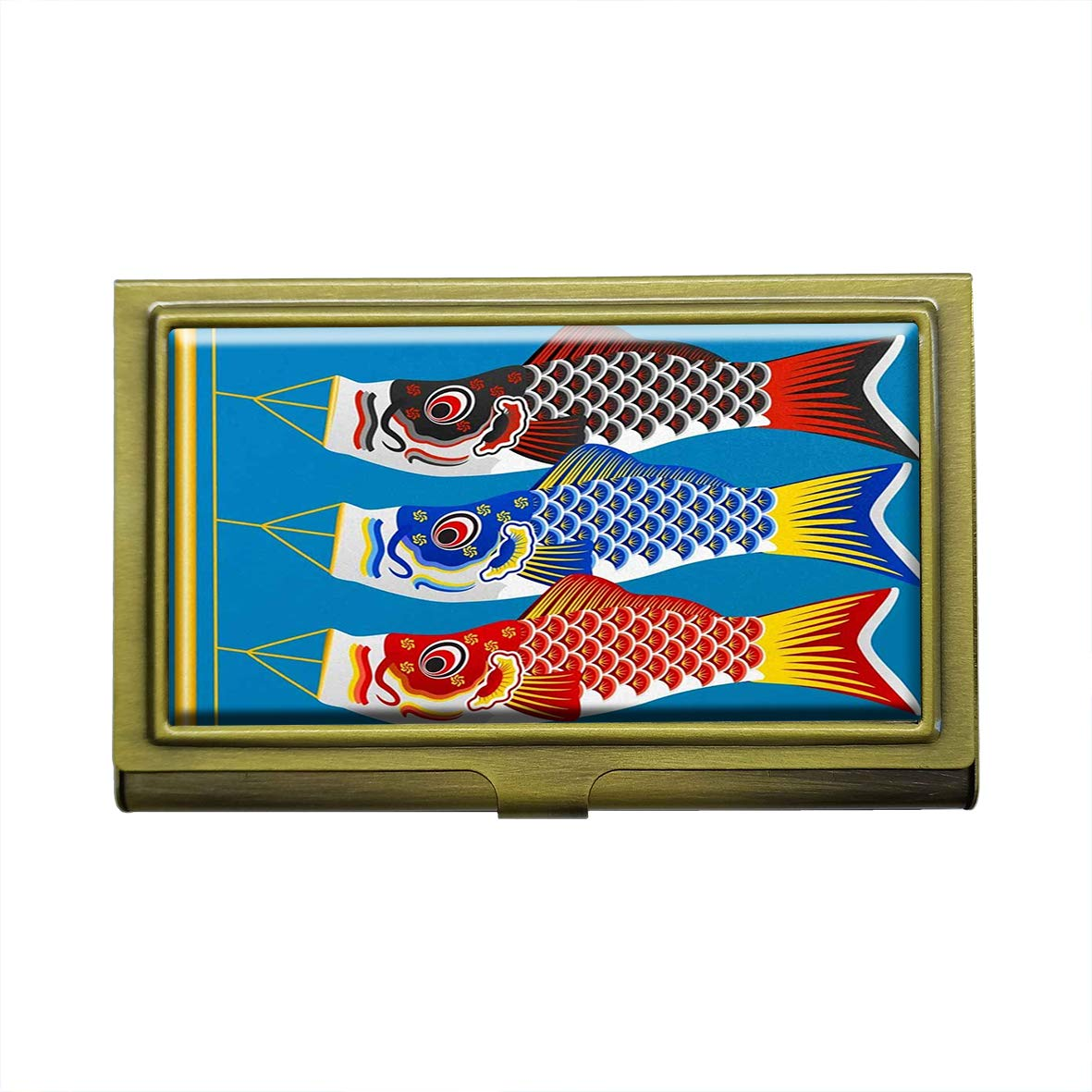 Ausweishalter Karpfen-Flaggen Koinobori f/ür Visitenkarten japanischer Koinobori Kreditkarten