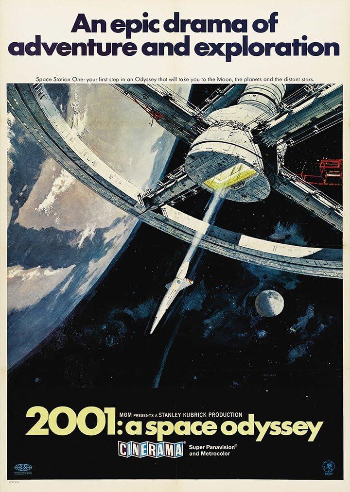 Stanley Kubrick 2001: una odisea del espacio película A4 cartel ...