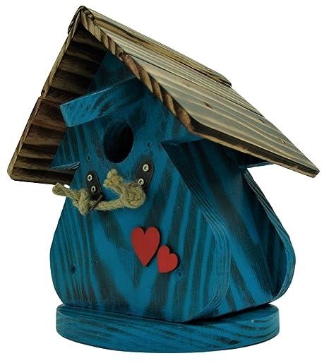 Caseta para pájaros, casa para pájaros producto Francais, 27 cm alto, azul,