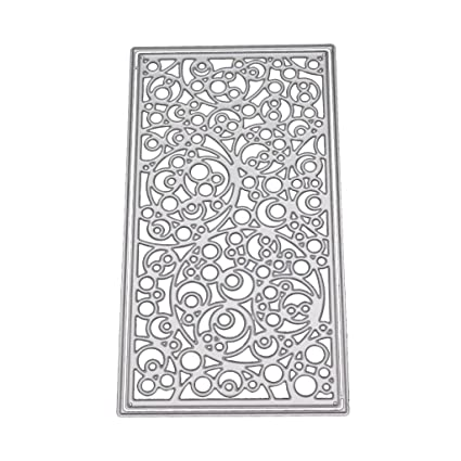 Amazon Com Loxtong Flower Plate Cutting Dies Stencil Diy