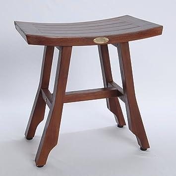 teak shower stool adjustable height corner asia bench uk