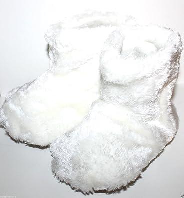 bbdd2aff1d60d Baby Gap Toddler Preschool Faux Fur Bear Paw Bootie Slippers (M 7-8