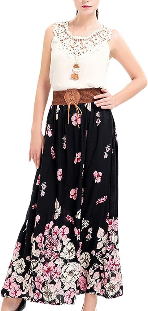 Las Mujeres Eleagnt Vintage Bohemian Floral Print Cinturon ...