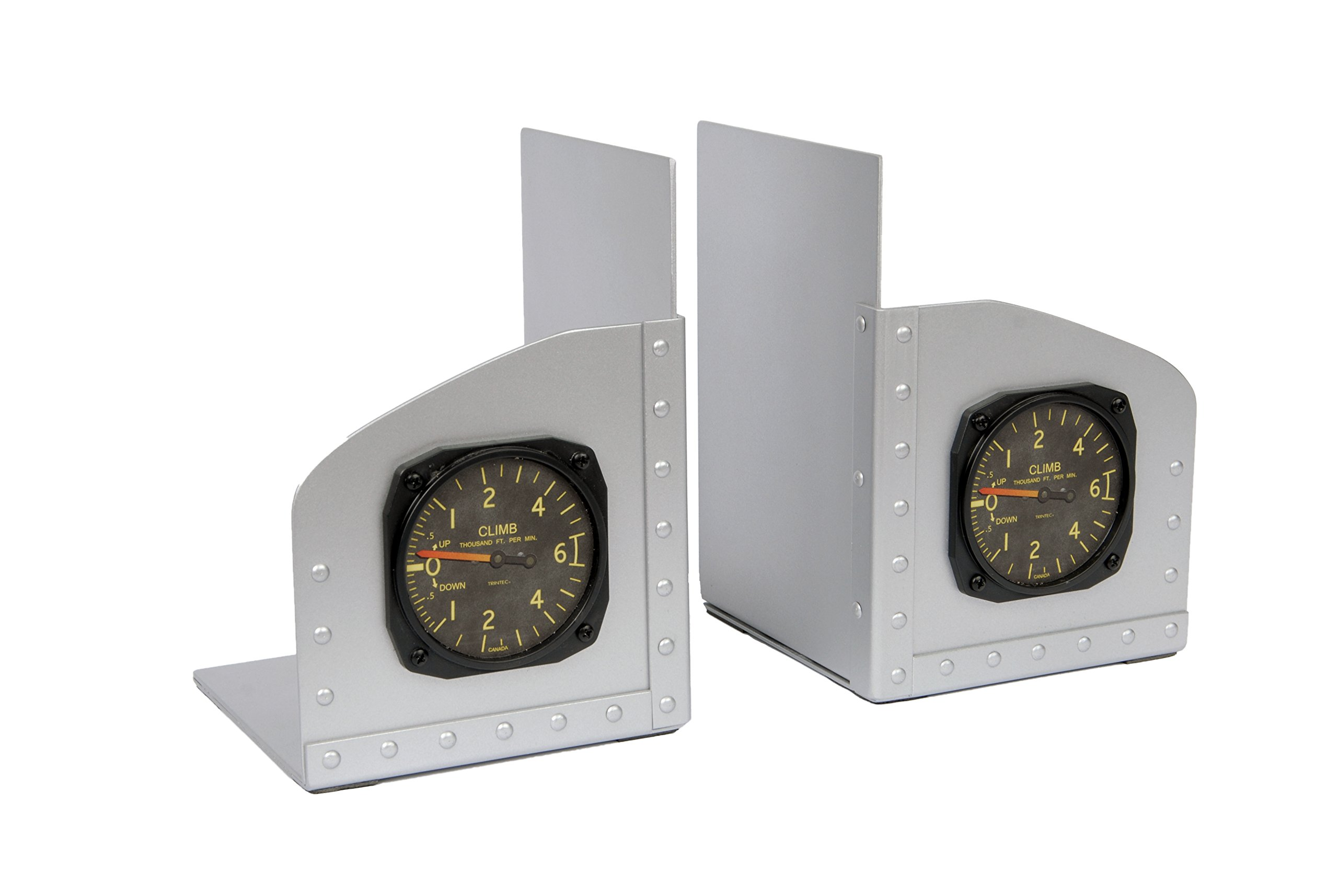 Riveted Aluminum Facsimile Aircraft Instrument Bookends