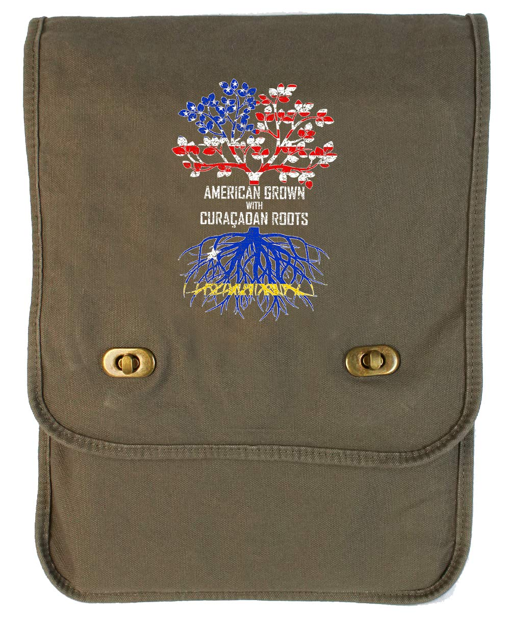 Tenacitee American Grown with Cura/çaoan Roots Royal Blue Brushed Canvas Messenger Bag