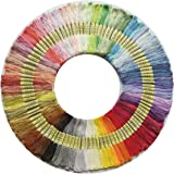 100 Skeins Per Pack, Cross Stitch Threads, Premium Rainbow Color Embroidery Floss, Friendship Bracelets Floss, Polyester…