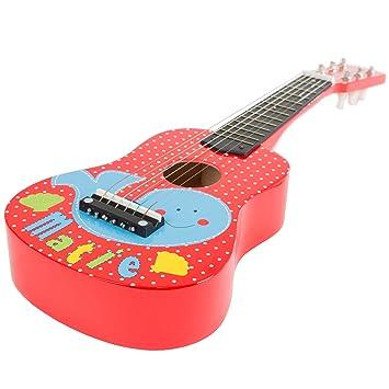 Juguete para guitarra acústica con 6 cuerdas (se puede afinar y sonido real por Hey. Play.: Amazon.es: Juguetes y juegos