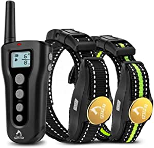 PATPET P320B Dog Shock Collar for 2 Dogs with Remote - Upto 1000 Ft Range Electric Collars for 2 Dogs Rechargeable IPX7 Waterproof Training Collars for Small Medium Large Dogs