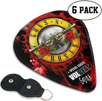 Guns N Roses - Juego de 6 púas para guitarra eléctrica, guitarras acústicas, mandolina y bajo: Amazon.es: Instrumentos musicales