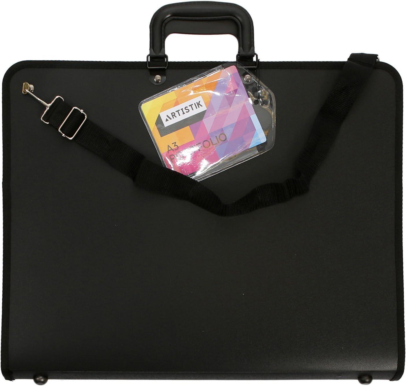 A1 Artist Portfolio Carrying Case with Shoulder Strap A1-35.1 x 26 x 1.7 Art Portfolio Case Weather-Resistant Student Portfolio Drawing Painting Sketch Bag by Artistik