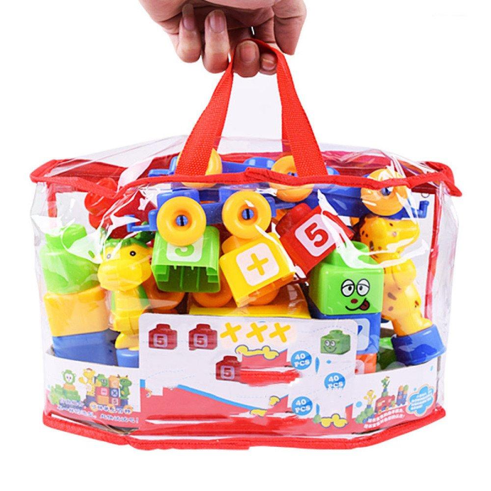 QXMEI Kinder Bausteine Spielzeug Puzzle Kunststoff Große Partikel 48 Tabletten Spielzeug