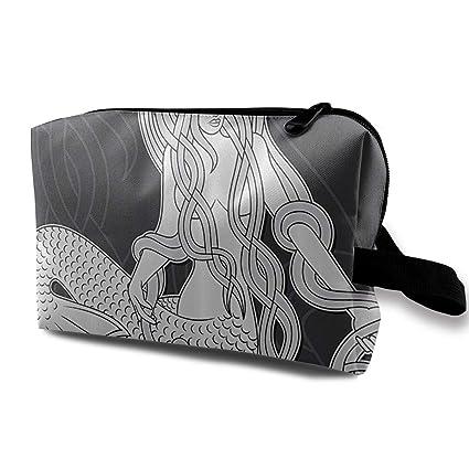 Las mujeres viajan bolsas de cosméticos grabados sirena ...