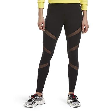 c2b3d89a8dd925 HUE Women's Plus Size Fashion Cotton Leggings, Assorted, Mesh Insert/black  1X