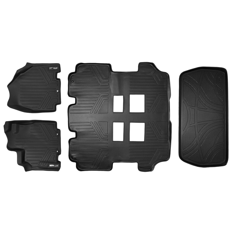 Weathertech mats canadian tire - Amazon Com Maxfloormat Floor Mats 3 Row Set And Maxtray Cargo Liner For Honda Odyssey 2011 2017 Black Automotive