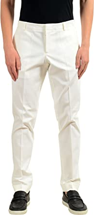 Amazon Com Gucci Para Hombre Blanco Elastico Casual Pantalones Tamano Us 34 Que Es Un 50 Clothing