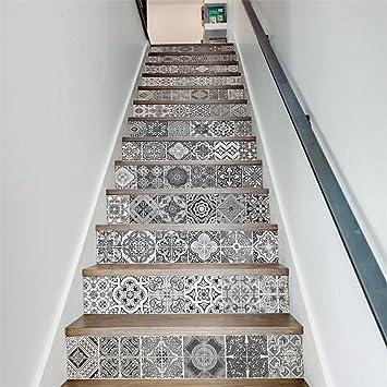 GWELL Stickers Descalier Autocollant Sticker Carrelage Mural Auto - Carrelage d'escalier
