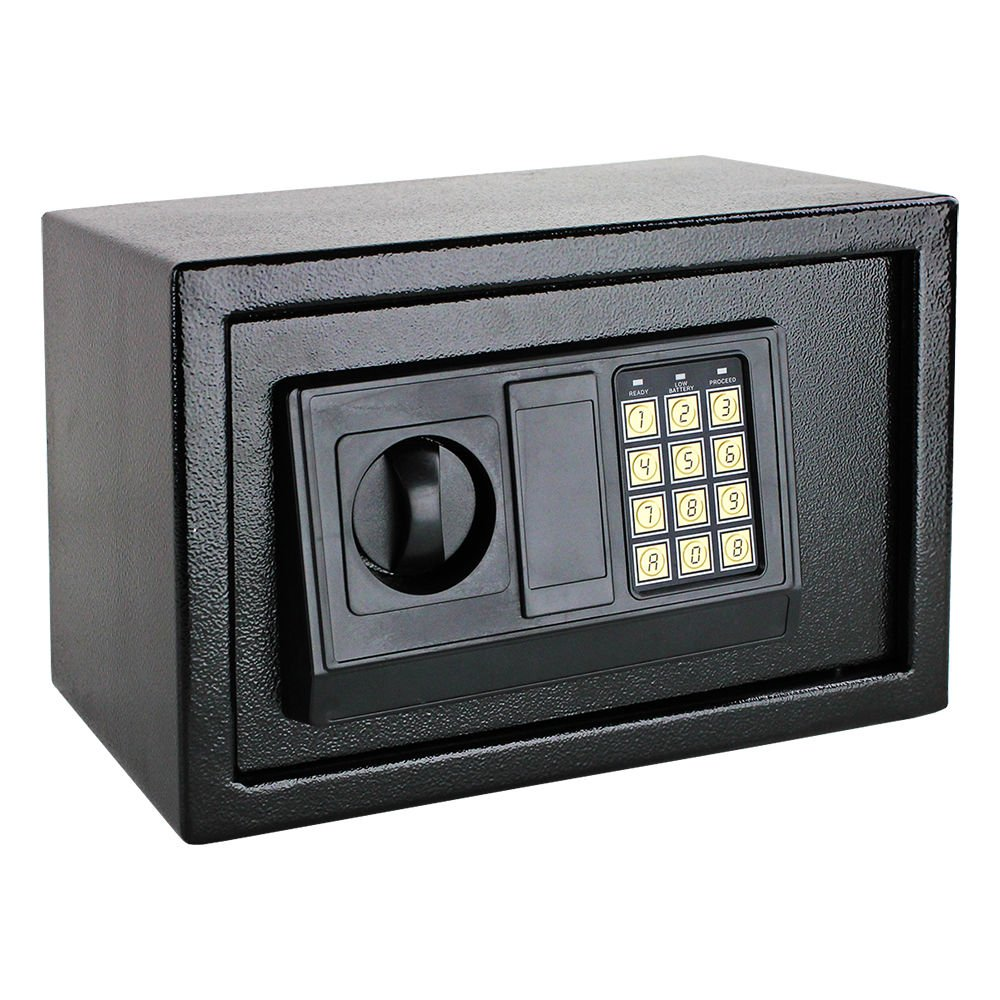 NEW Digital Electronic Safe Box Keyless Security Lock Home Office Hotel Gun Cash (Black)
