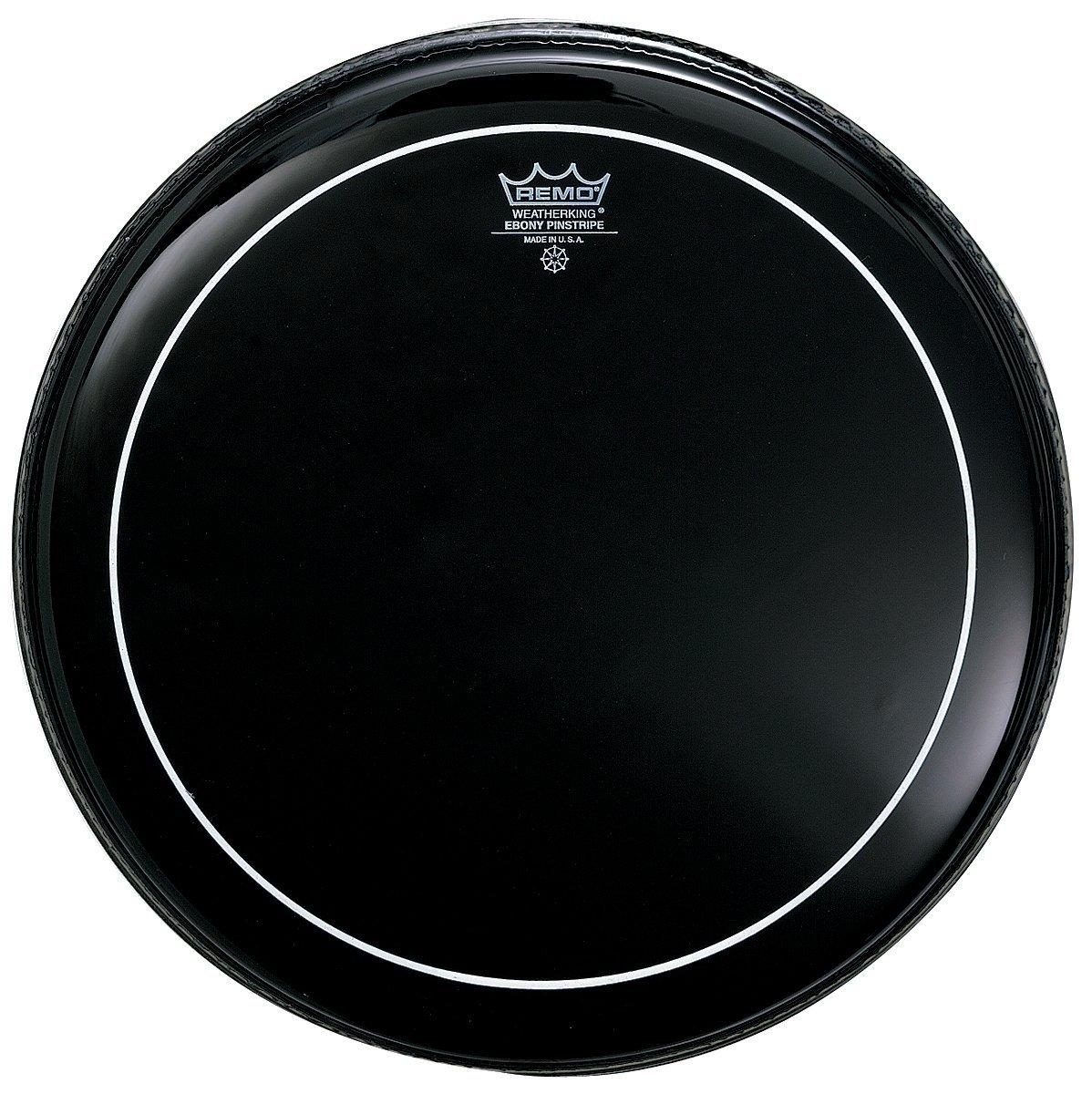 Remo ES0616PS Ebony Pinstripe Drum Head, 16-Inch