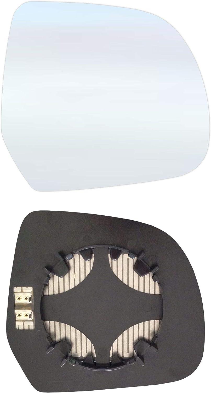 Rechts Beifahrerseite Spiegelglas mit Platte und Heizung #AM-DADKR12-RCH