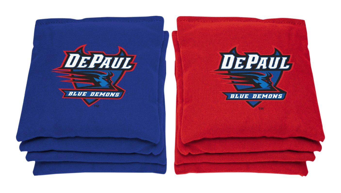 AJJ Cornhole NCAA DePaul Blue Demons Bags, 6'' x 6'', Red