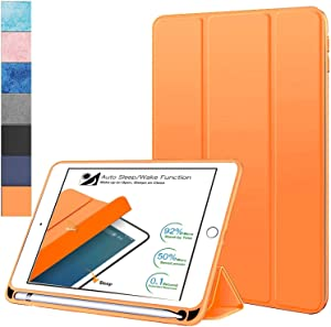 "DuraSafe Cases for iPad Air 3 (3rd Gen) 10.5"" 2019 [ A2152 A2123 A2153 A2154 ] Soft Back Cover with Pencil Holder - Orange"